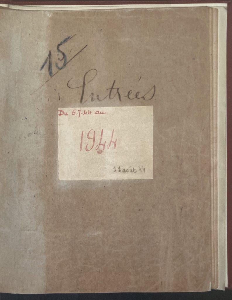 Cahier de mutations Entrée/Sortie Drancy [Archives NationalesF9/5778]
