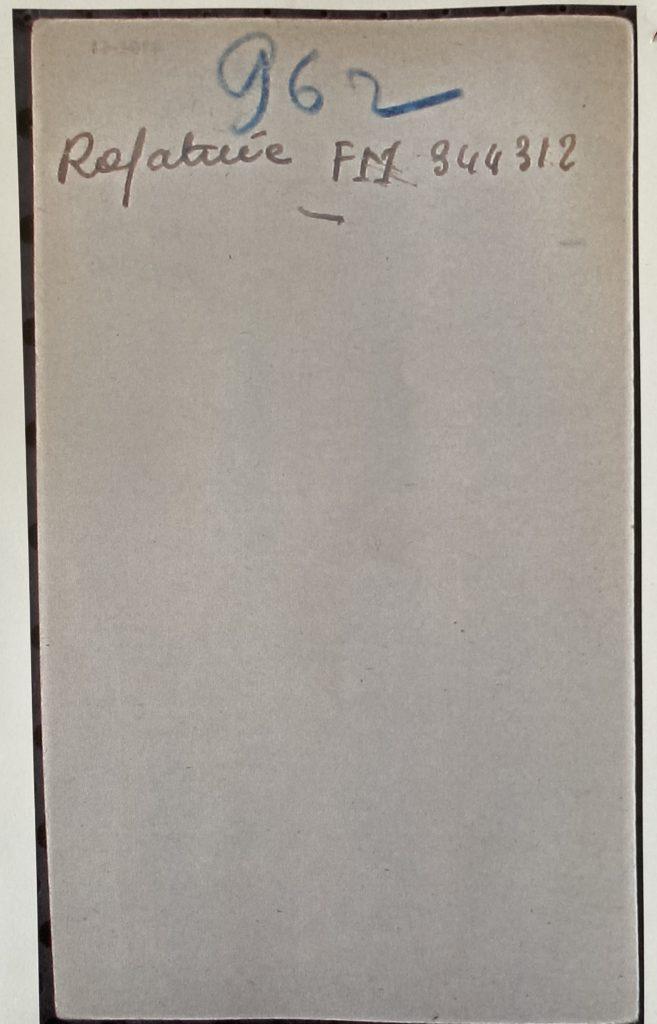Fiche d'enregistrement du camp de Drancy Verso [Archives Nationales F9/5736]