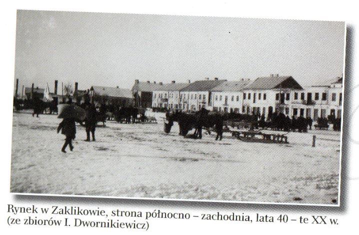 La place du marché de Zaklików, côté nord-ouest, années 40 [collection I. Dwornikiewicz]
