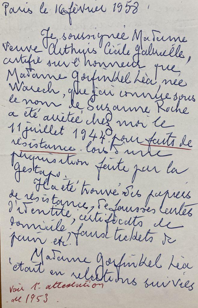 Témoignage Mme Veuve Arthuis [DAVCC 21 P 617493]