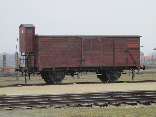 Wagon sur la Bahnrampe Auschwitz-Birkenau [collection particulière]